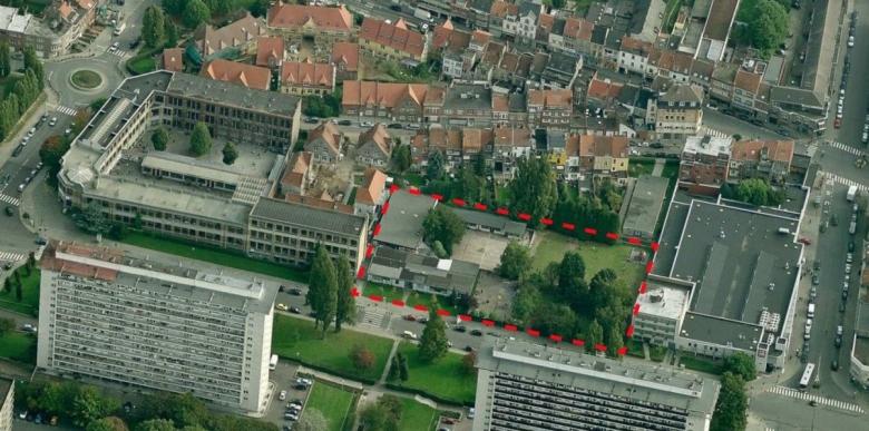 De locatie van de nieuwe campus aan de Mutsaardlaan
